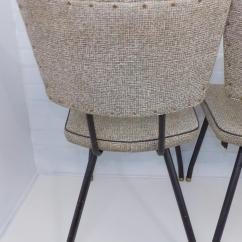Metal Bistro Chairs Meeting Room Naugahyde Mid Century Modern Industrial Chair Chairish Black White Kitchen I Have A Total Of 3