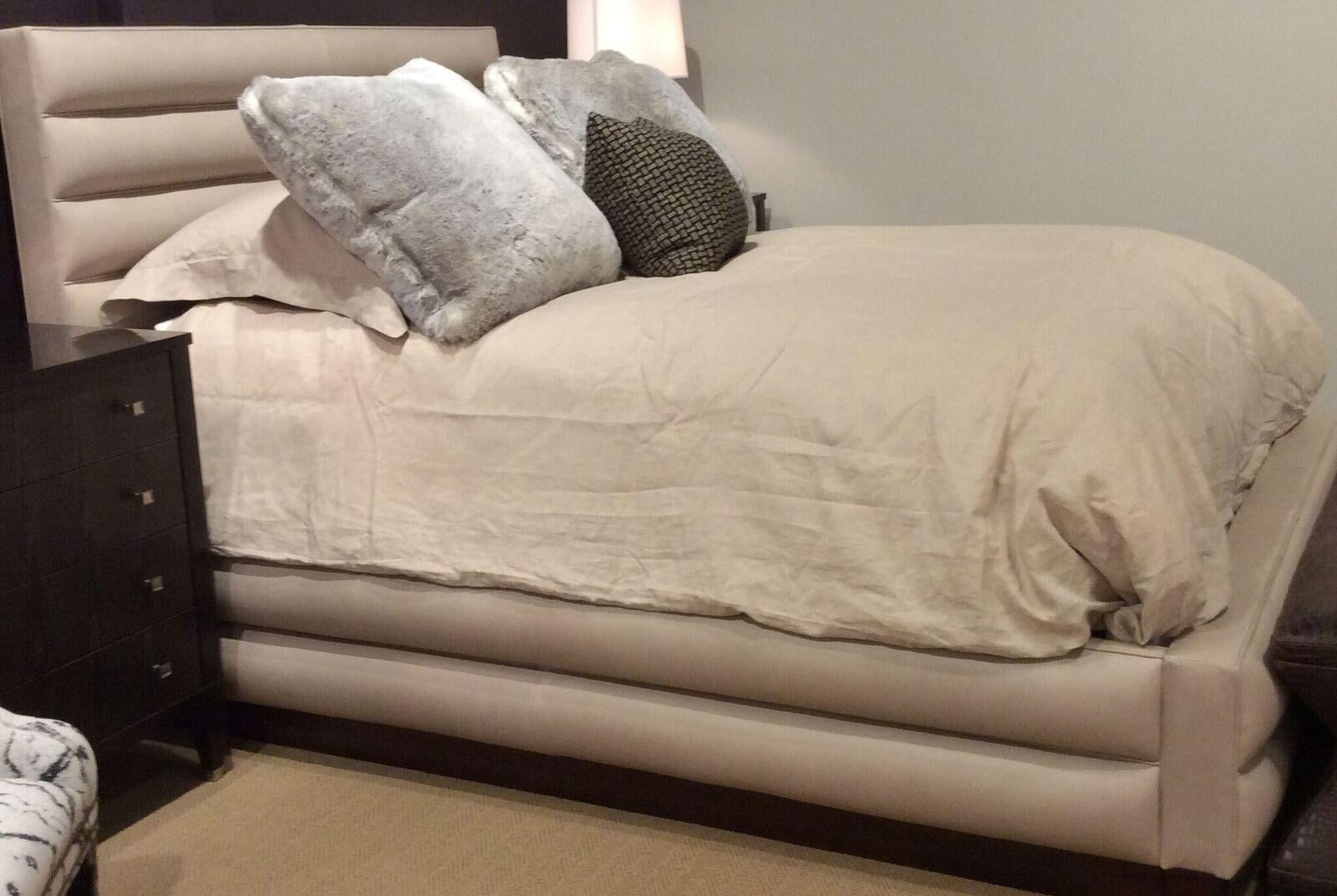 hickory chair furniture beds wood folding chairs costco chamber leather queen bed chairish with low footboard made ash and dark walnut finish modern