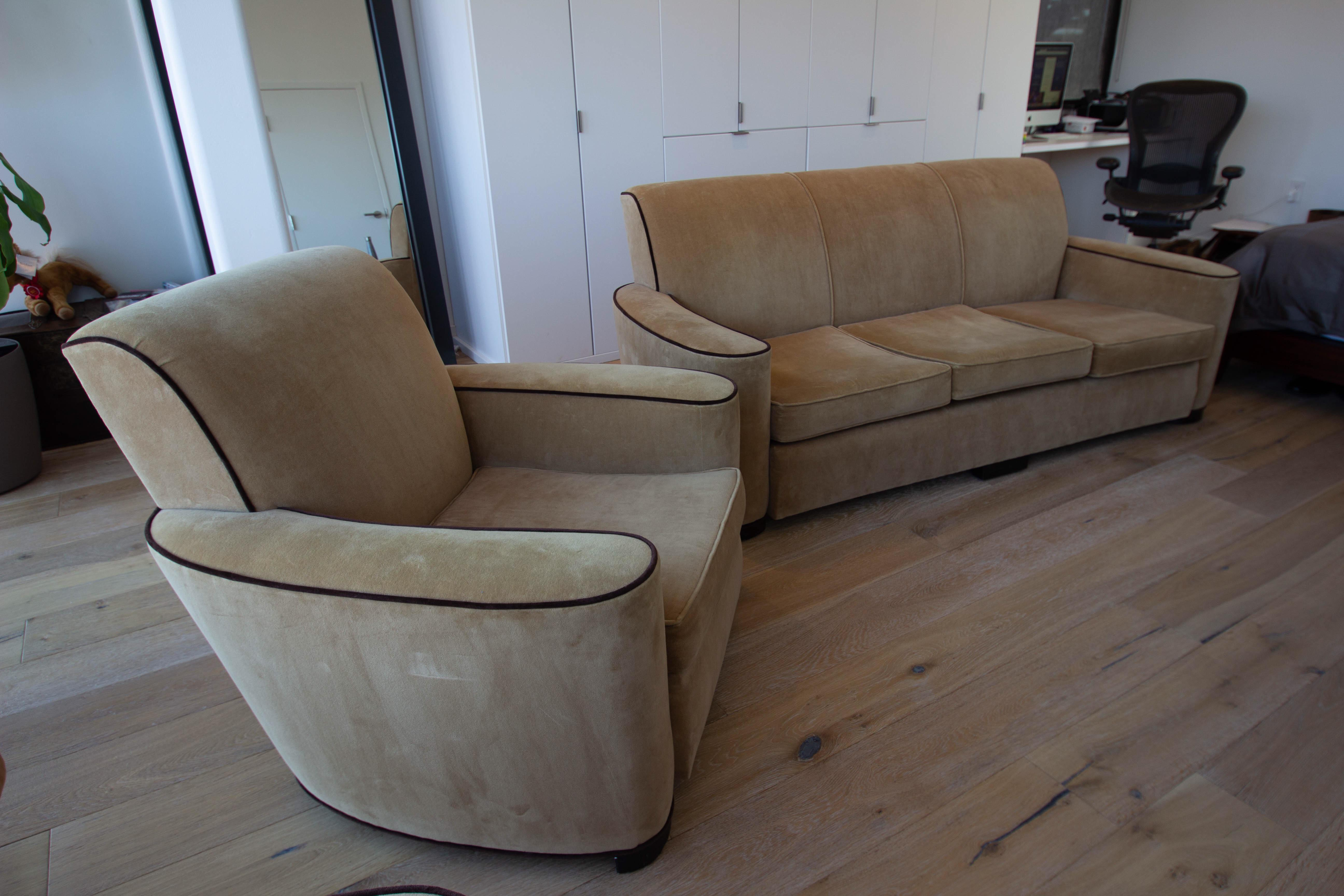 couch and chair set lawn chairs home depot 1930s corvette lounge a pair chairish i bought this beautiful 1936 art deco from the nyc antique store