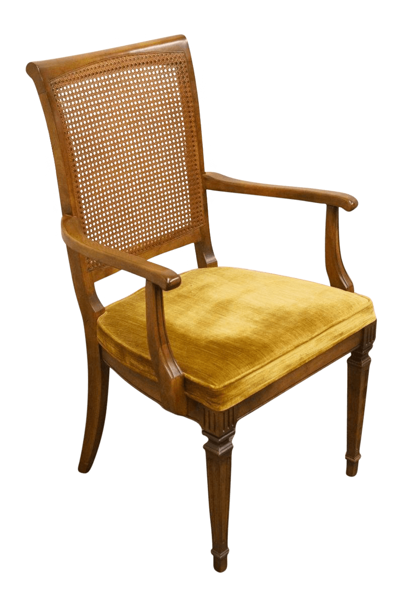 ethan allen palm grove chair white stool gently used furniture up to 50 off at chairish late 20th century vintage cane back dining