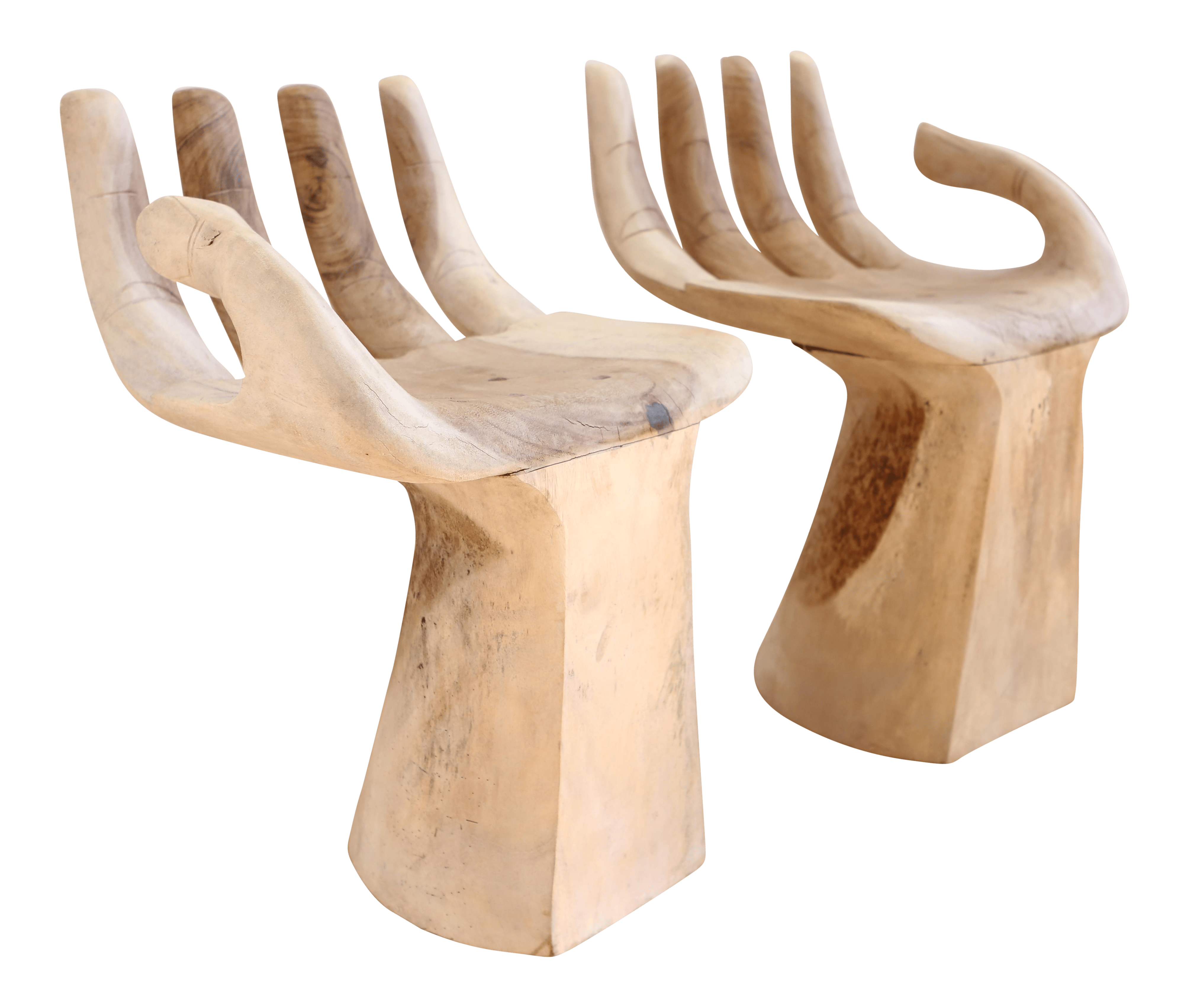 wood hand chair captains workout carved teak chairs in the style of pedro friedeberg a pair for sale