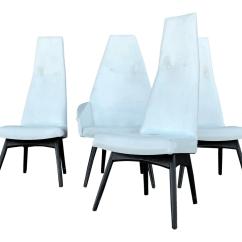 High Back Dining Chair Blue Bar Chairs Luxury Adrian Pearsall Set Of 4 Decaso For Sale