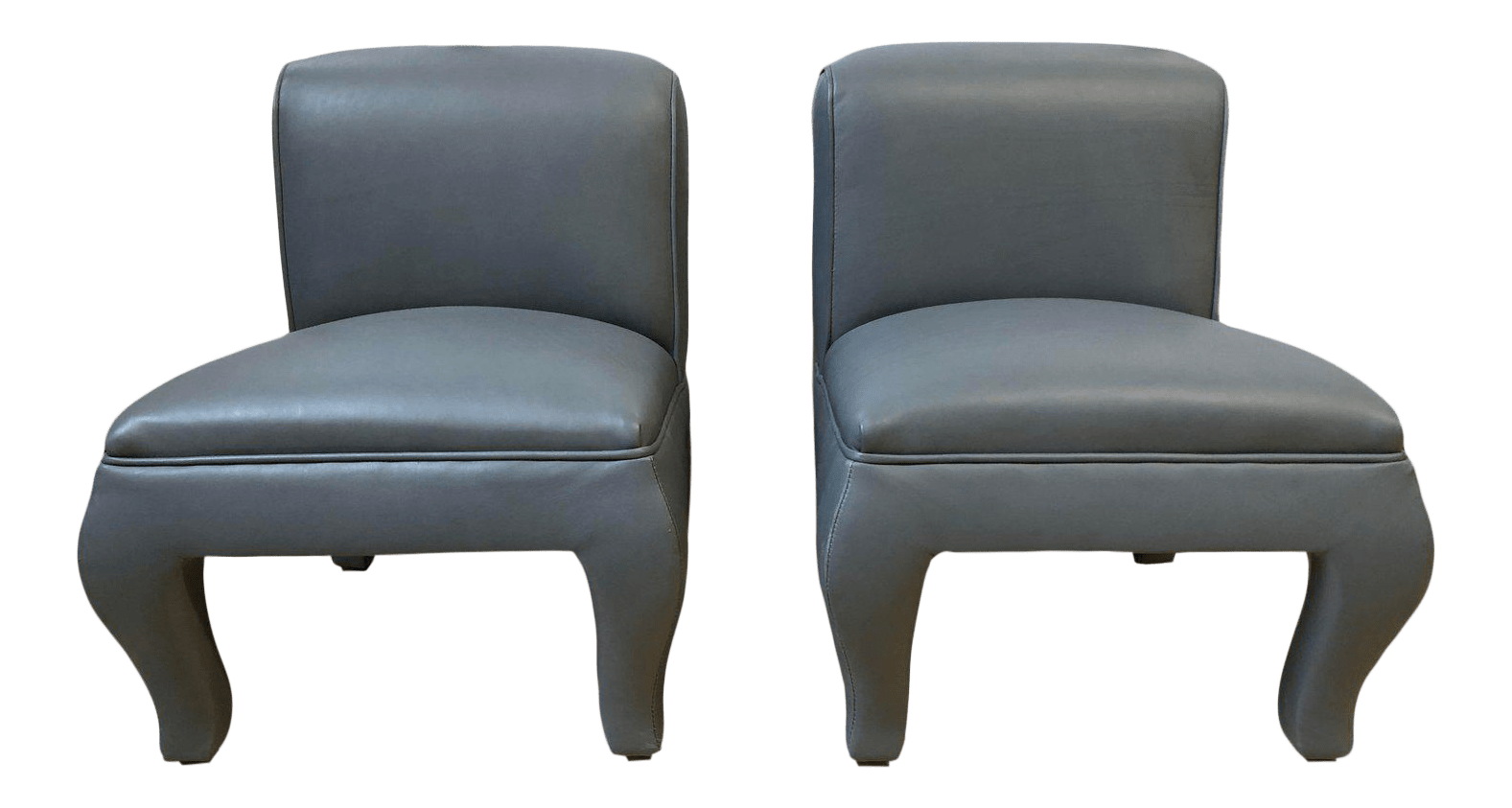 Vanity Chairs Custom Dennis Buchner Italian Leather Vanity Chairs A Pair