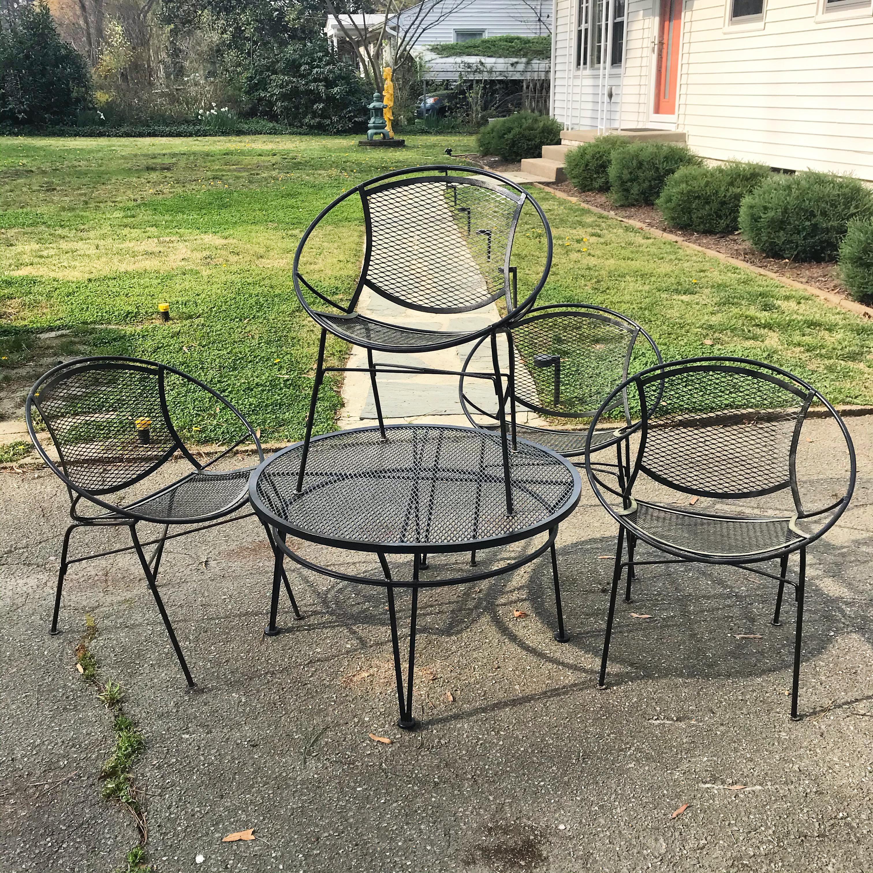 salterini patio set 5 pieces