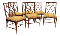 Woodbridge Furniture Faux Bamboo Brighton Side Chairs ...