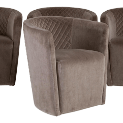 Quilted Swivel Chair Recliner Chairs Canada Lovely A Set Of Four Contemporary Italian Tub For Sale