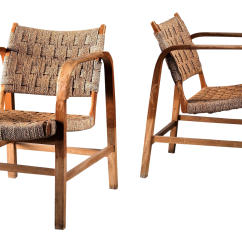 Seagrass Arm Chair Best Rocking Chairs For Outside Excellent Magnus Stephensen Pair Of Bent Beech And Armchairs Denmark 1930s Sale