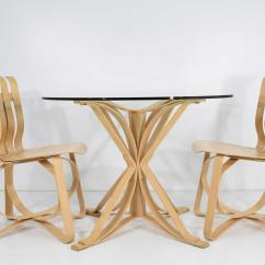 Frank Gehry Chair Wood Dining Chairs Superb Hat Trick Set Of 4 Decaso For Sale Image 9 10