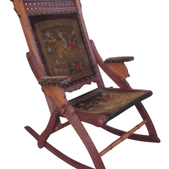 Folding Rocking Chair Wood Baby Swing Victorian Eastlake Chairish