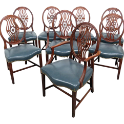 Vintage Dining Room Chairs Folding Beach Costco Used For Sale Chairish Mid Century Georgian Style Set Of 8