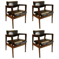Wh Gunlocke Chair Transfer For Shower Distinguished Classic Set Of Four Armchairs By W H Co Sale Image