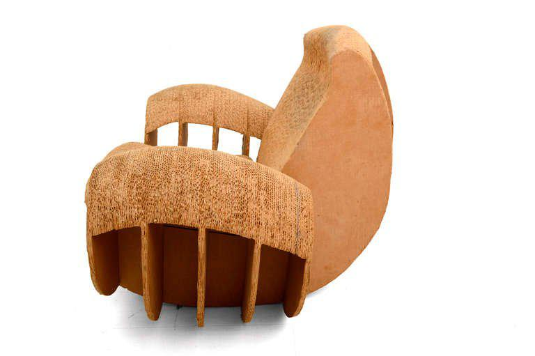 frank gehry cardboard chairs comfy with ottoman exceptional rocker easy edges attributed to o for your consideration a vintage rocking chair constructed in is not signed