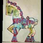 Carousel Horse Argentina Painting Chairish