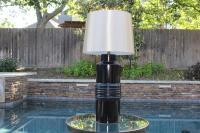 Mid-Century Black Ceramic Table Lamp | Chairish