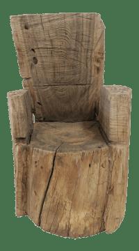 Childs Wood Stump Chair | Chairish
