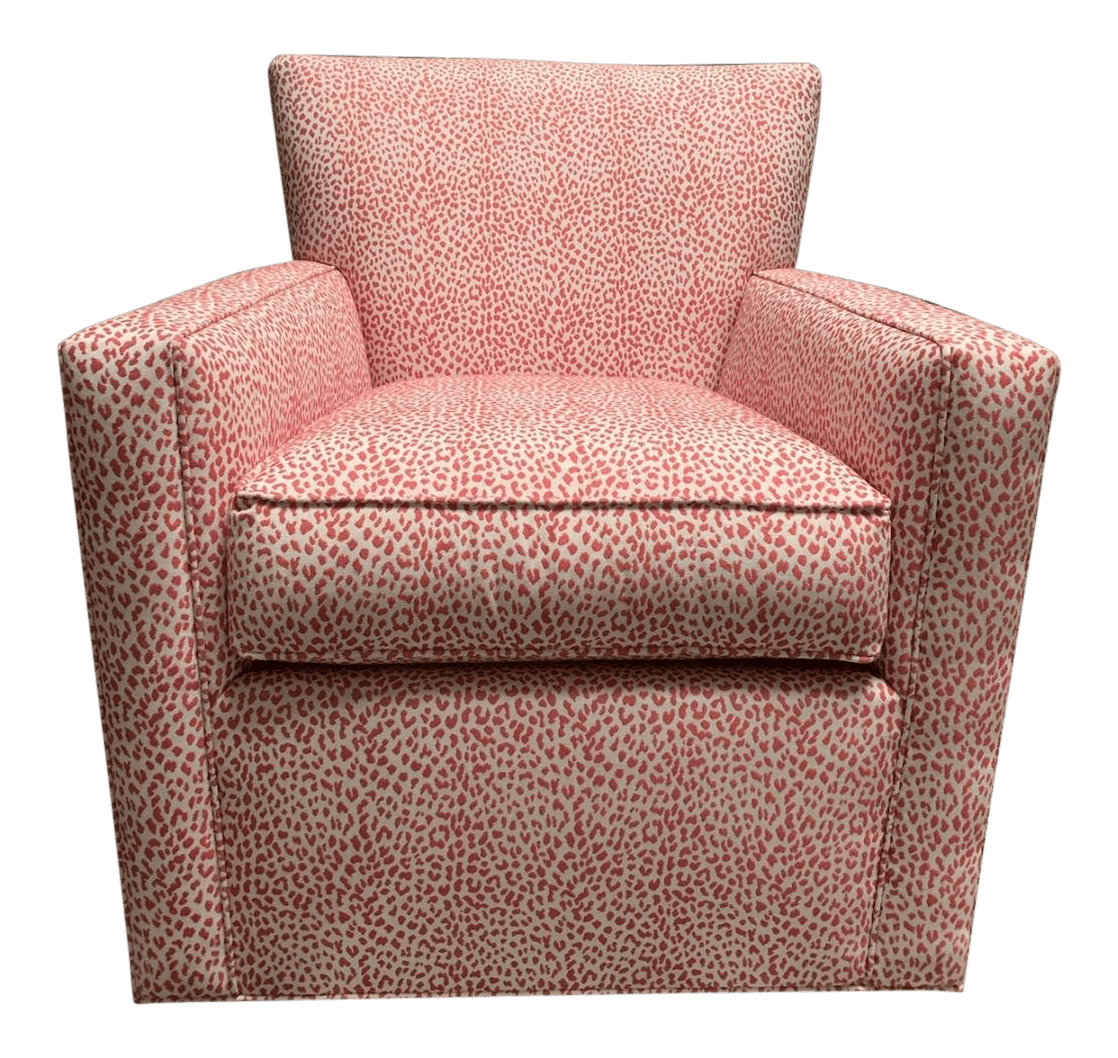 ethan allen wingback chairs beach with canopy vintage used accent chairish modern custom turner swivel chair