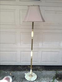 Marble and Brass Floor Lamp   Chairish