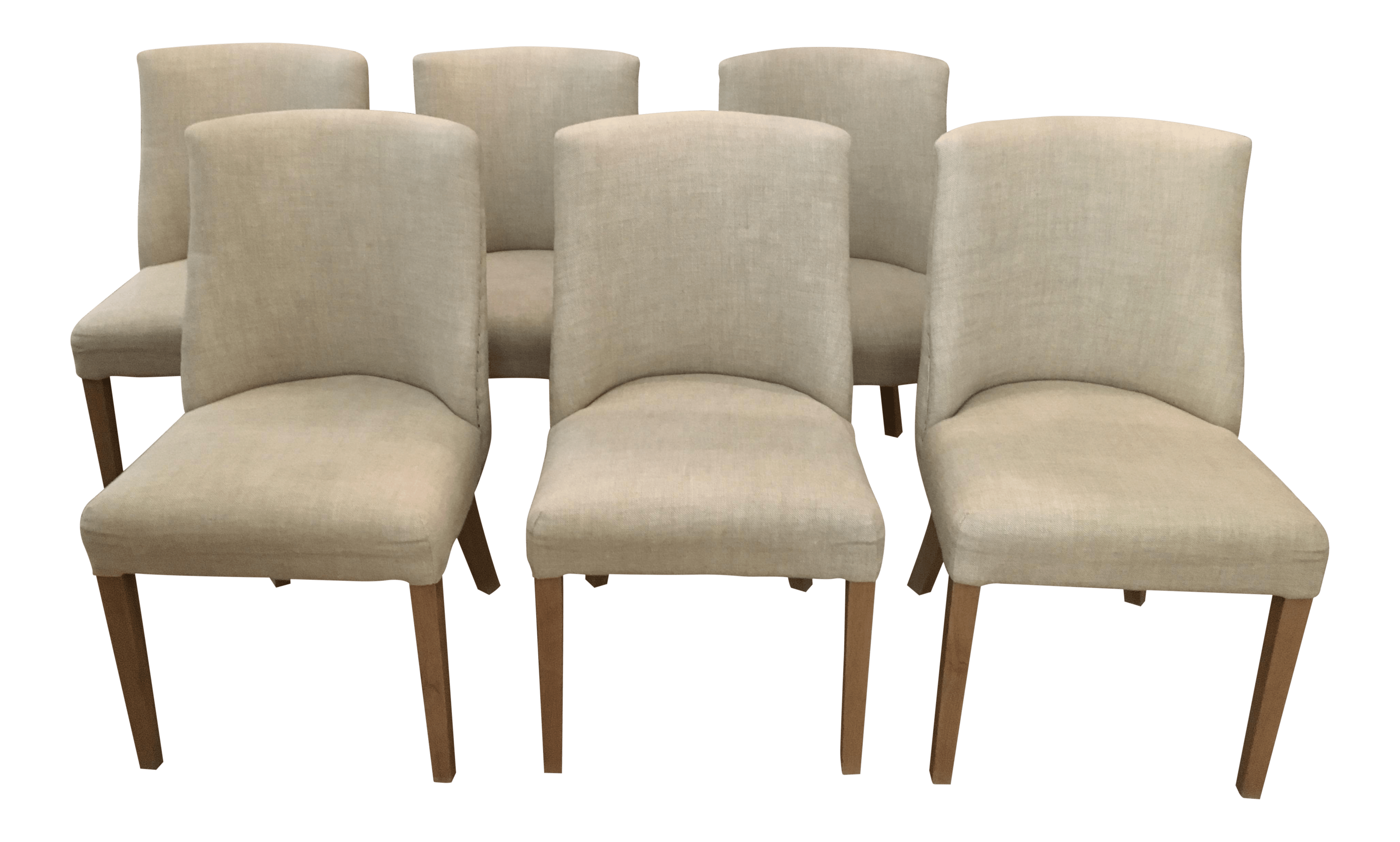 fabric side chairs blue high back chair cushions 1940s french barrelback set of 6 chairish for sale