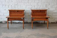 Mid-Century Lane Step End Tables - a Pair | Chairish
