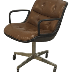 Pollock Executive Chair Replica Fancy Bedroom Chairs Vintage Used Chicago Office Chairish 1970 S Knoll Brown Leather Armchair