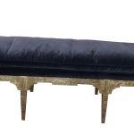 Blue Velvet Bench Chairish