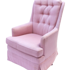 Pink Swivel Chair Meeting Room Chairs Mid Century Blush Lounge Chairish For Sale