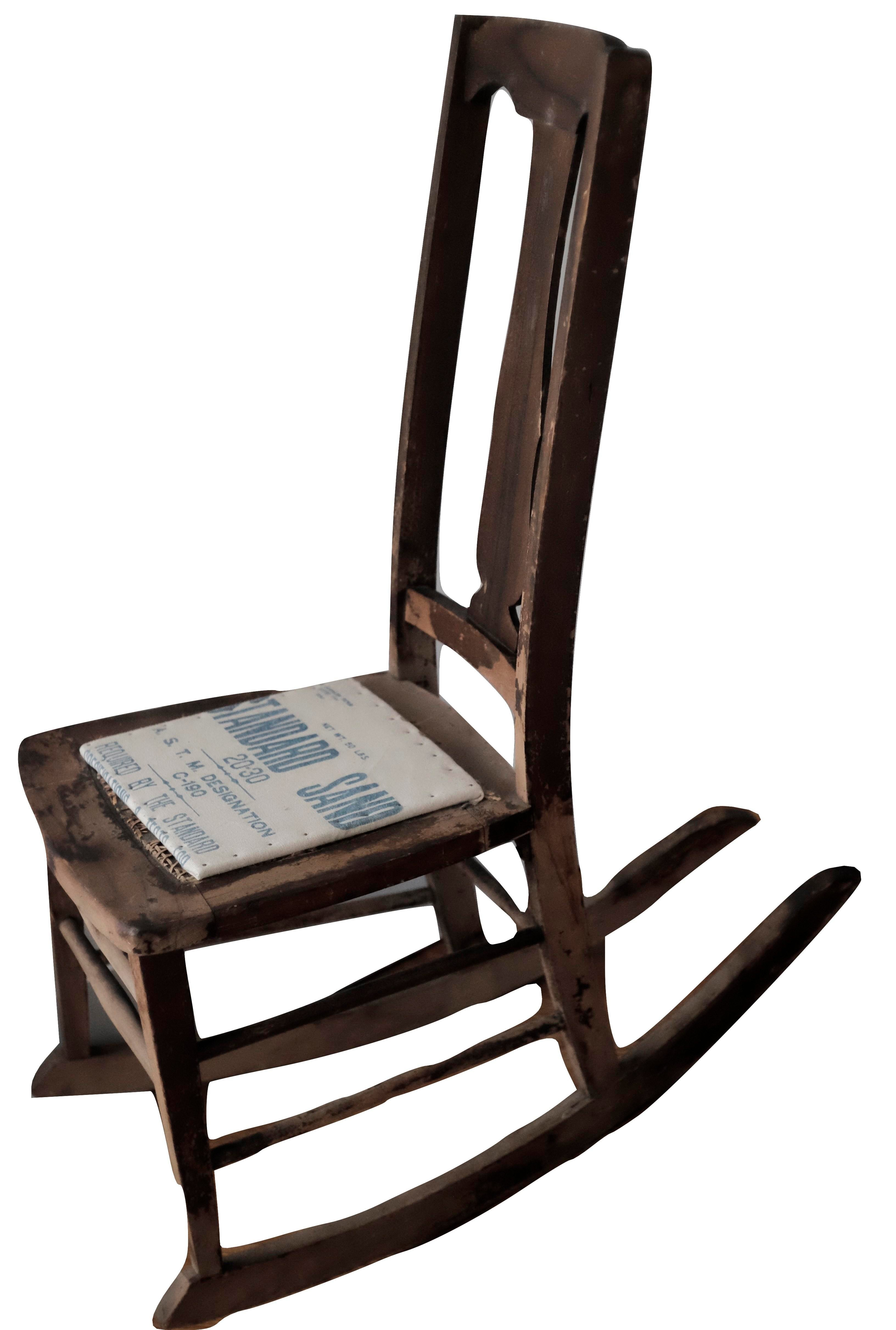 antique sewing chair needlepoint nursing rocking chairish this small rocker is a lady s or the lack of arms
