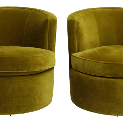 Green Velvet Swivel Chair Desk Chairs Target Superior Forest Barrel After Milo Baughman For Sale