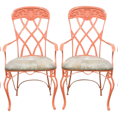 Vintage Wrought Iron Table And Chairs Chair Design Interior Used Patio Garden Furniture Chairish Set 4 French Regency Style Sunroom Dining Arm