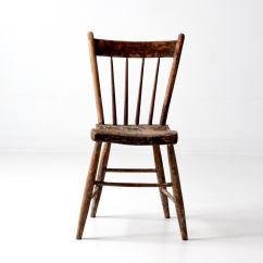 Small Wooden Chair Rent Covers Indianapolis Antique Primitive Chairish An Accent The Windsor Style Features A Spindle Back