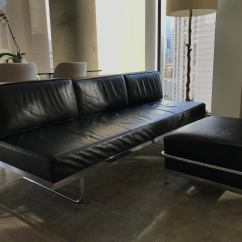 Lc3 Sofa Steam Cleaning Abu Dhabi Le Corbusier And Matching Cassina Ottoman 2 Pc Set Excellent Condition Previously Utilized In An Office Setting Very Well Cared For Bauhaus