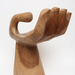 Wood Hand Chair Hanging Sale 1960 S Vintage Carved Teak In The Style Of Pedro Friedeberg For