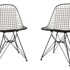 Black Wire Chair Pottery Barn Charleston And A Half Slipcover 1950s Eames For Herman Miller Dkr Chairs Pair Chairish Sale