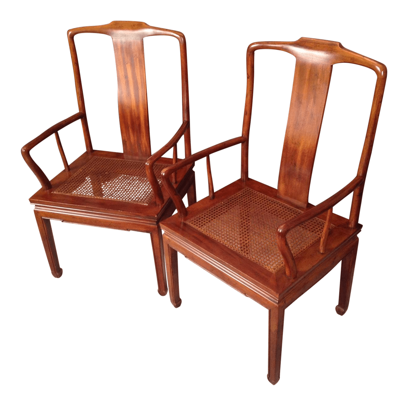 henredon asian dining chairs gaming chair staples cane arm pair chairish for sale