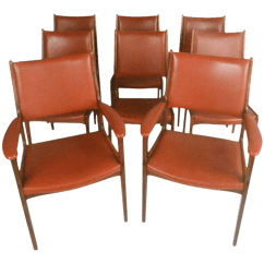 Danish Modern Dining Chair Cheap Chaise Lounge Chairs Vintage Set Of 8 Chairish For Sale