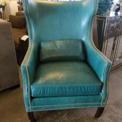 Z Gallerie Chairs Office Chair Or Gaming Davis Accent Wingback Chairish Has Designed Our Exclusive In Custom Teal Leather To Reinterpret The Classic