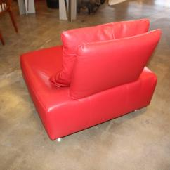 Red Lounge Chair Brazilian Hammock Lovely Leather Italian Decaso Mid Century Modern For Sale Image 3 Of 7