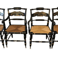 Ethan Allen Palm Grove Chair Universal Covers In Bulk Gently Used Furniture Up To 50 Off At Chairish 1980s Americana American Eagle Black Hitchcock Dining Chairs Set Of 4 For Sale