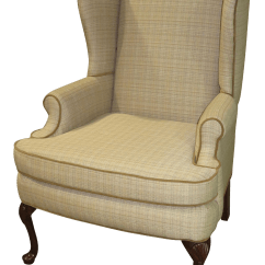 Queen Anne Wing Chair Spandex Covers For Metal Folding Chairs Vintage Used Wingback Chairish 1970s Traditional Style
