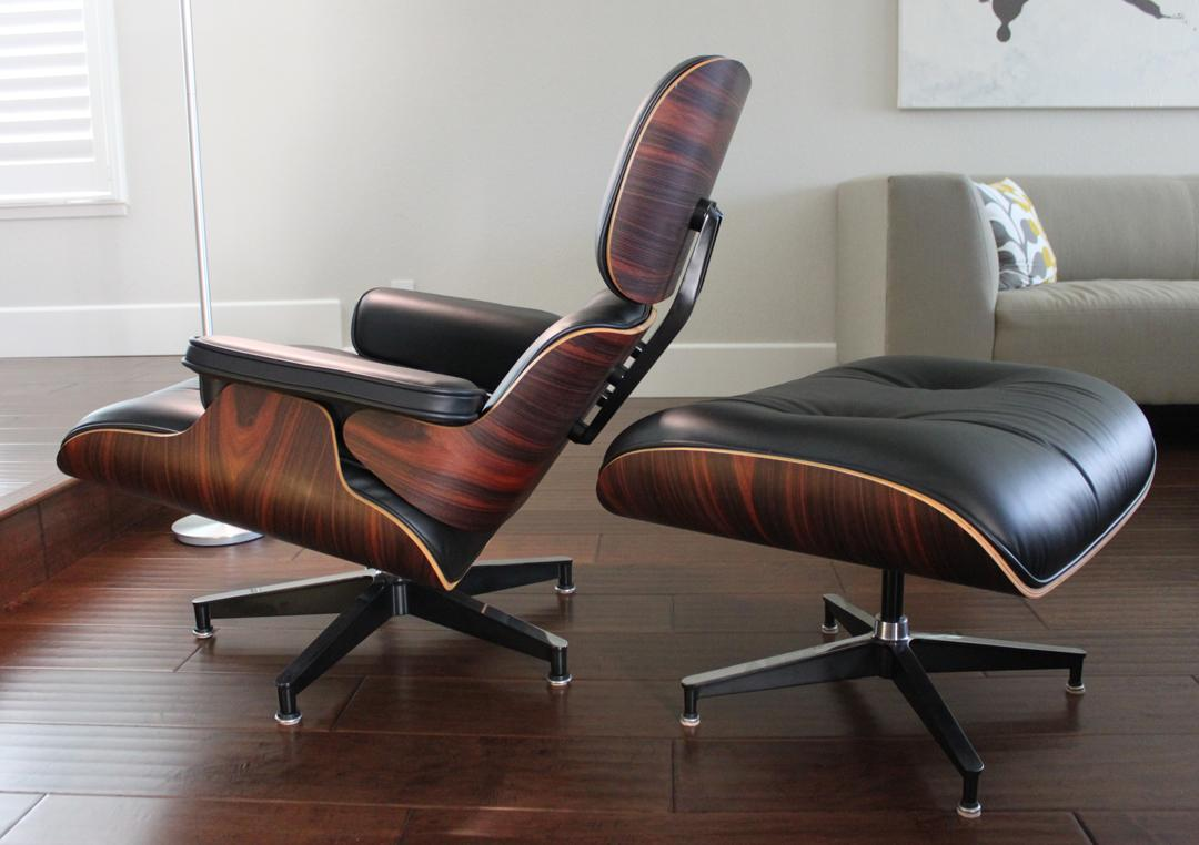 Herman Miller Eames Lounge Chair & Ottoman With Oiled