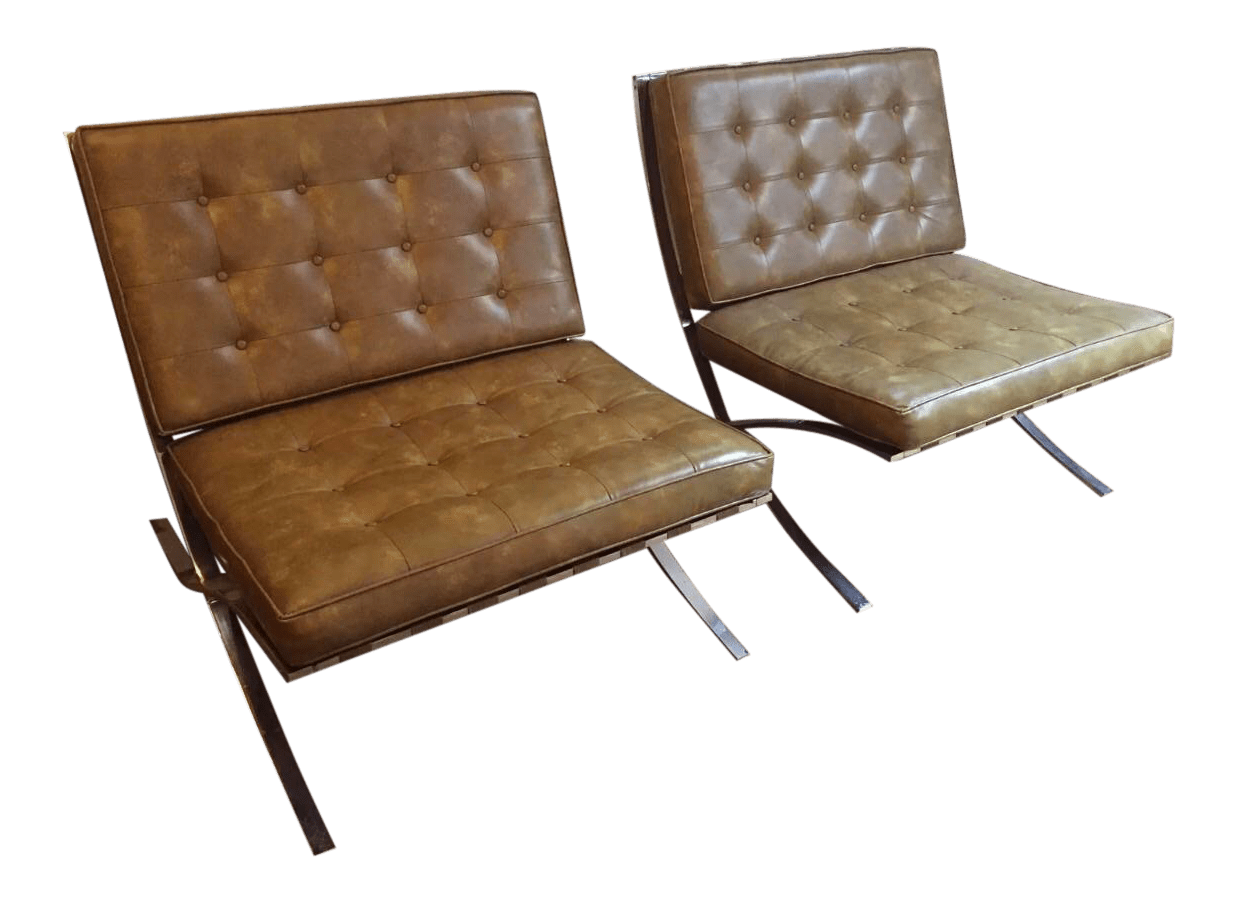 barcelona chairs for sale what is a bailey chair dog vintage pair of mid century modern vinyl chairish