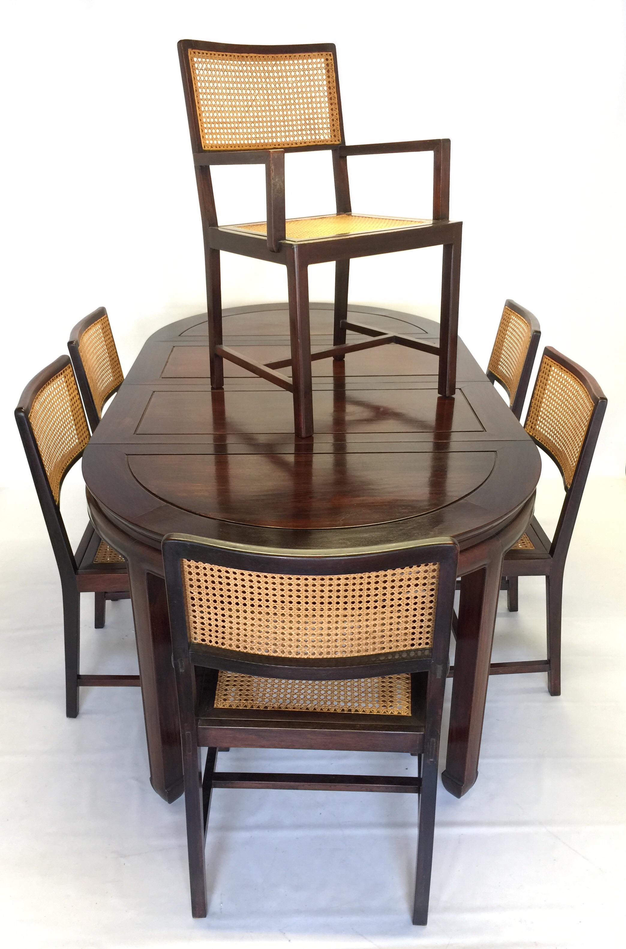 dining table and chairs hong kong old high chair parts set of 6 vintage rosewood mid century chairish for sale image 11