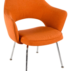 Orange Side Chair Lumbar Office Vintage Used Burnt Chairs Chairish Saarinen By Knoll Executive Open Back Arm