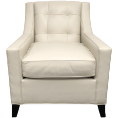 White Leather Chairs For Sale Armless Upholstered Chair Slipcover Leathercraft Style 112 Chairish