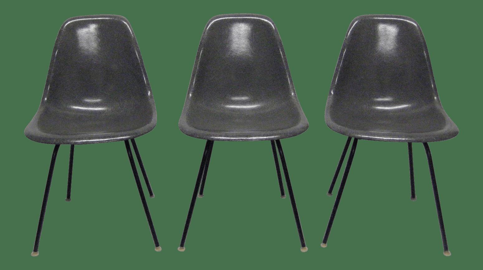 eames fiberglass chair ice cream sandwich 1957 mid century modern charles chairs set of 3 chairish