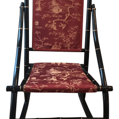 Rocky Oversized Folding Arm Chair Melissa And Doug Vintage Used Antique Rocking Chairs For Sale Chairish 1900s Red Toile Chinoiserie