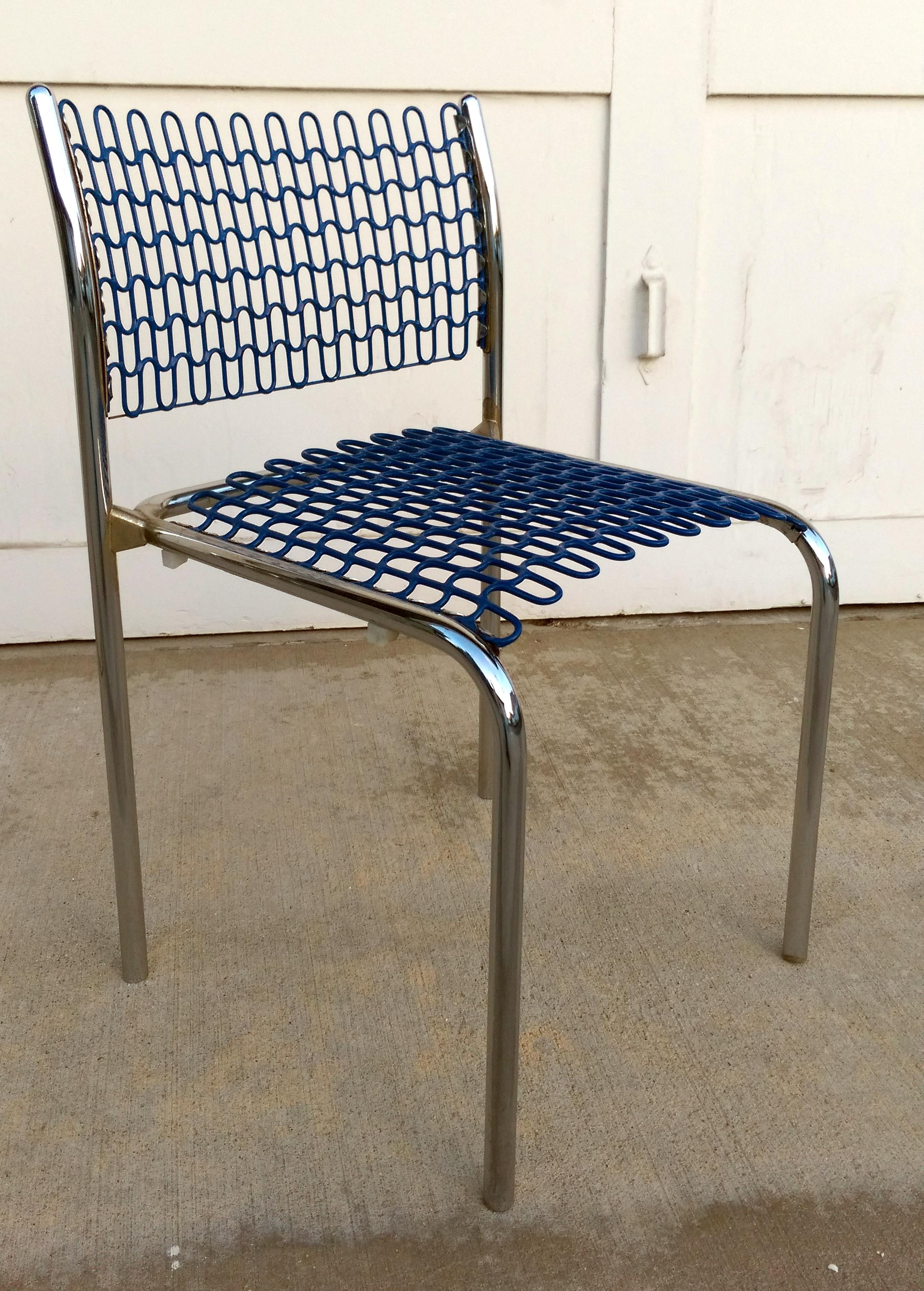 david rowland metal chair acrylic clear thonet sof tech side chairs by set of 6 chairish for sale