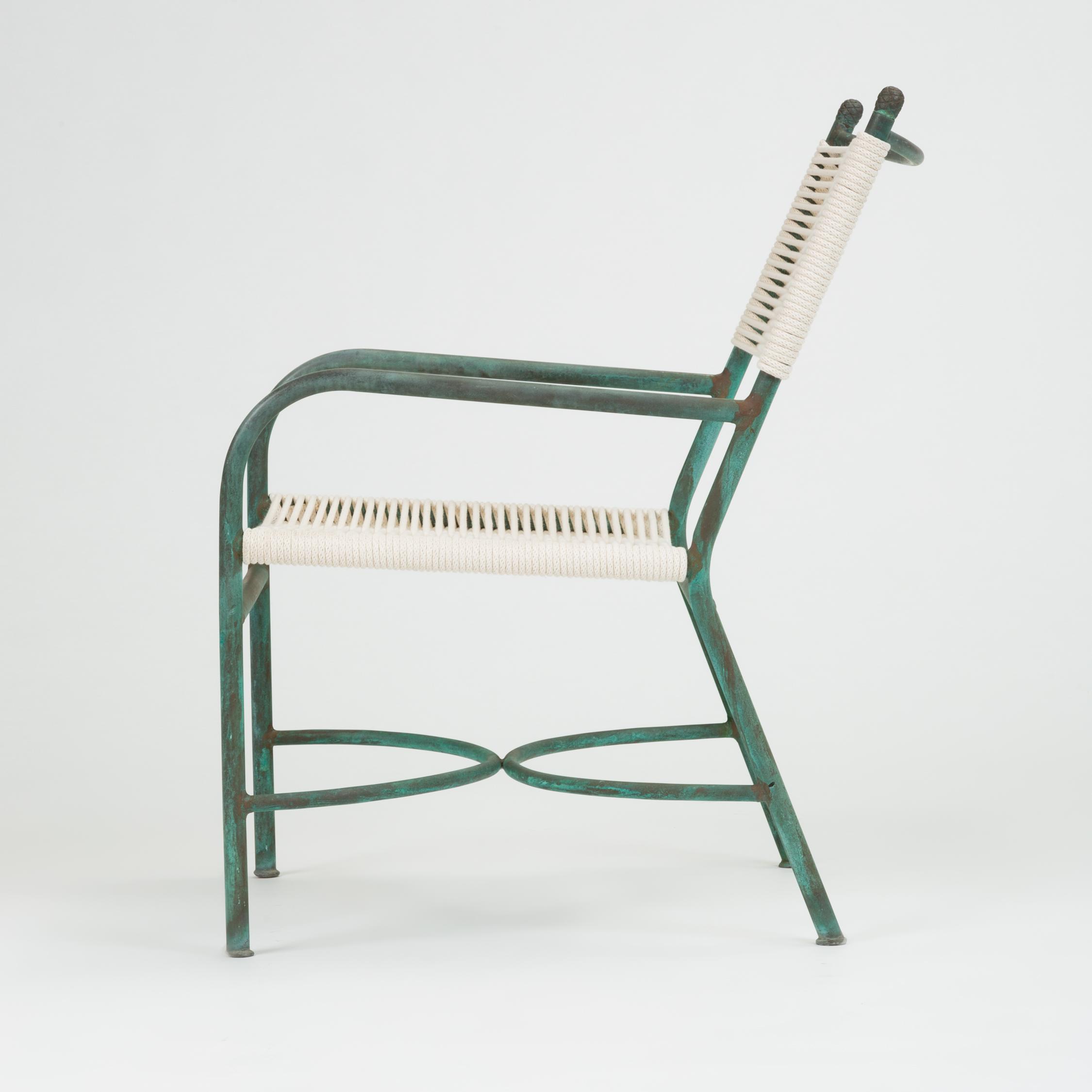 robert lewis bronze patio lounge chair