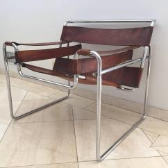 Breuer Chairs For Sale Desk Tall People Superb Vintage Early Original Marcel Wassily Chair Knoll In Brown Leather Image