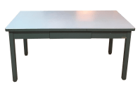Mid-Century Haskell of Pittsburgh Industrial Table | Chairish